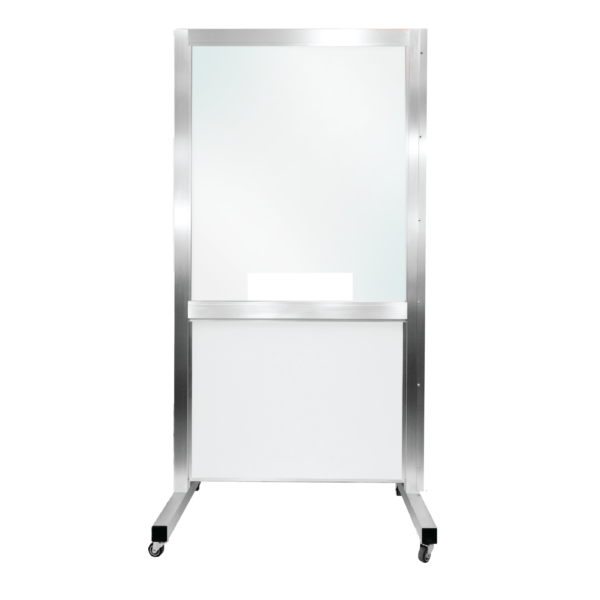 Mobile SeparationScreen with Pass-Through without Shelf plexiglass